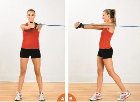 ejercicios abdominales banda elastica