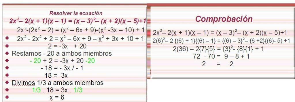 ecuaciones de primer grado aprender