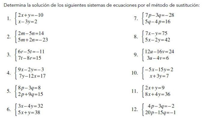 ejercicios de sistema de ecuaciones para resolver