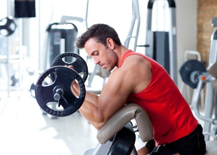 ejercicios biceps gimnasio