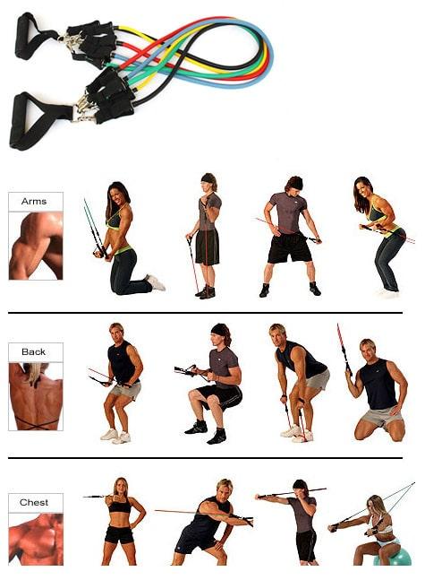 ejercicios funcionales con gomas
