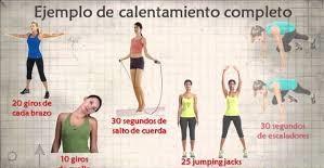 ejercicios de calentamiento antes de entrenar