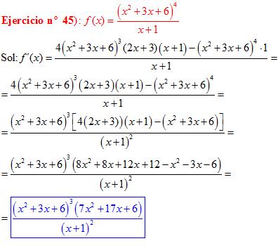 ejercicios de derivadas resueltos