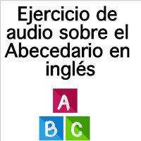 ejercicios de ingles alphabet