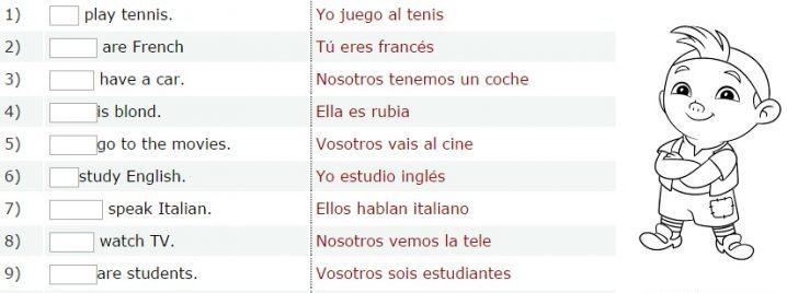ejercicios de inglés básico