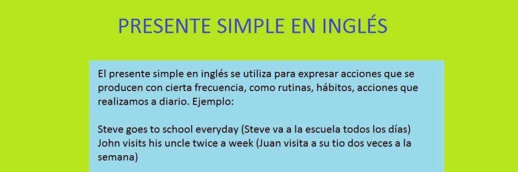 ejercicios presente simple y continuo