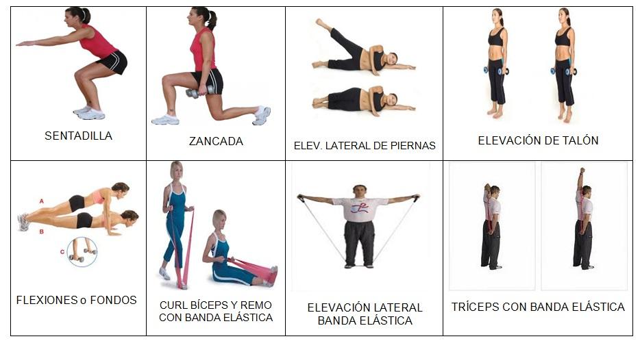 tipos de ejercicios para hacer en casa
