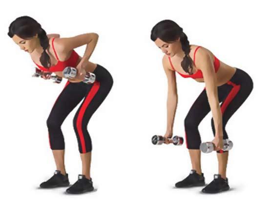 ejercicios de espalda en casa con mancuernas