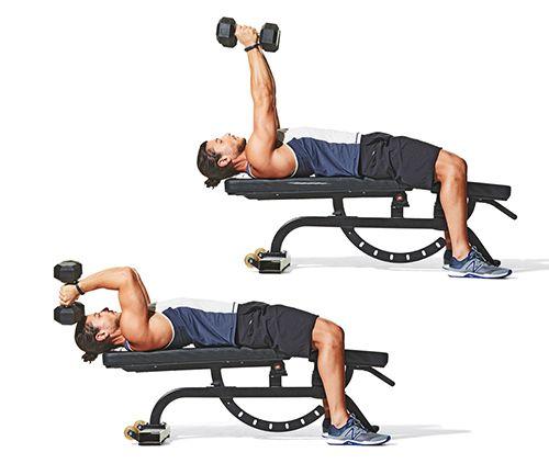 ejercicios triceps con mancuernas