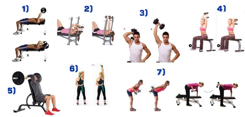 ejercicios aumentar triceps