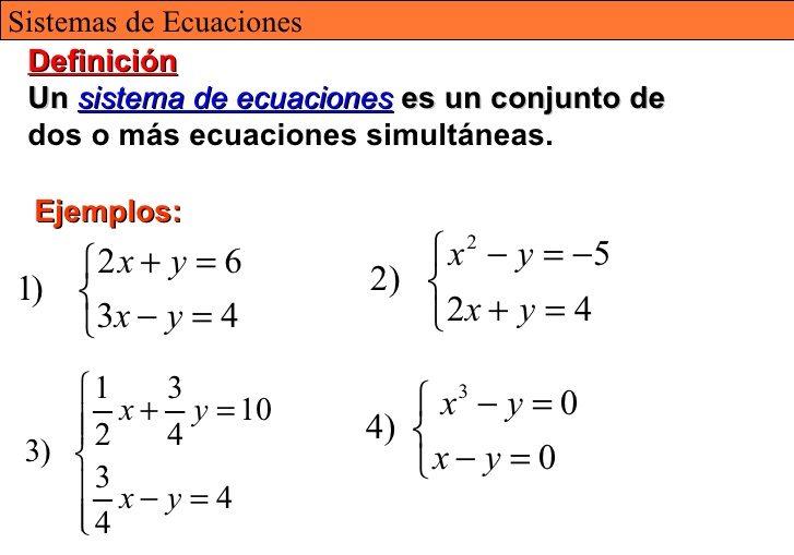 ejercicios de sistemas de ecuaciones basicos