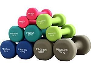 ejercicios en casa con mancuernas de colores