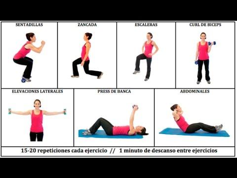 tabla ejercicios fitness