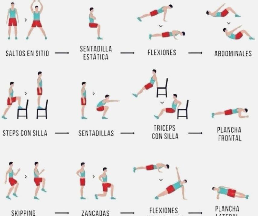 tabla ejercicios aumento masa muscular