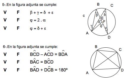 ejercicios de geometria circunferencia