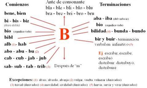 ejercicios con b o v