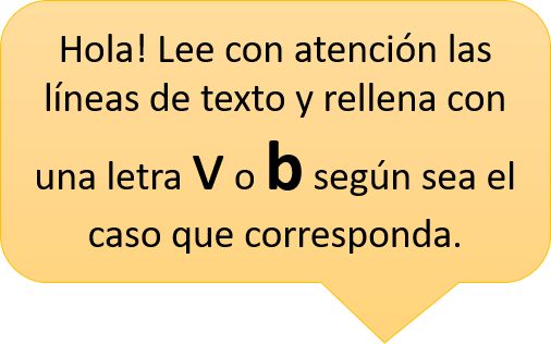 ejercicios con b y v