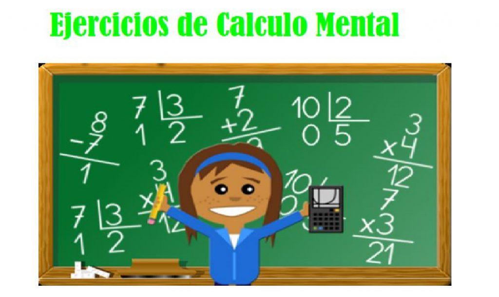 ejercicios calculo mental operaciones basicas