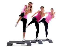 ejercicio con step gym
