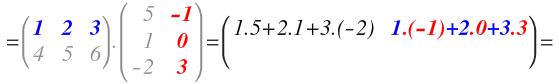 ejercicios de matrices 3x3