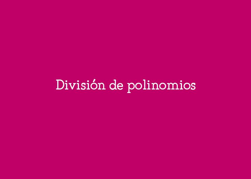 ejercicios division de polinomios pdf