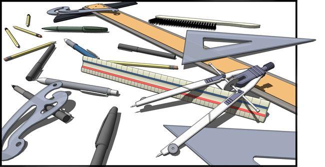 dibujo tecnico alzado planta perfil ejercicios