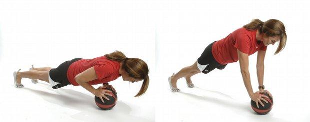 como hacer ejercicios con balon medicinal