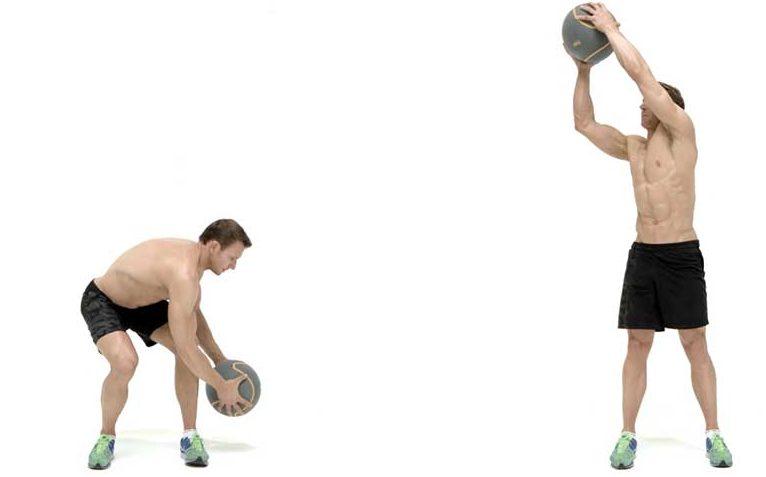 ejercicios en balon medicinal