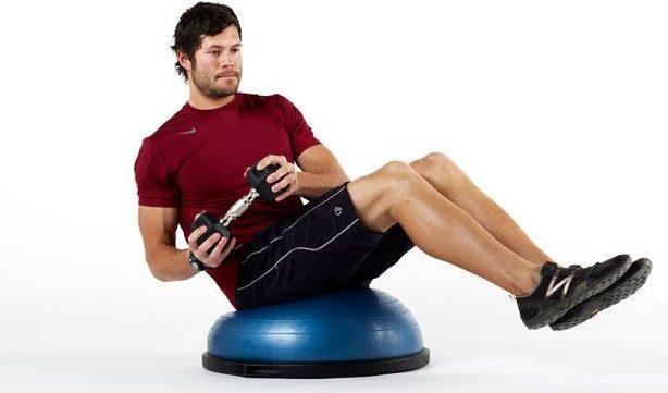ejercicios con bosu ball