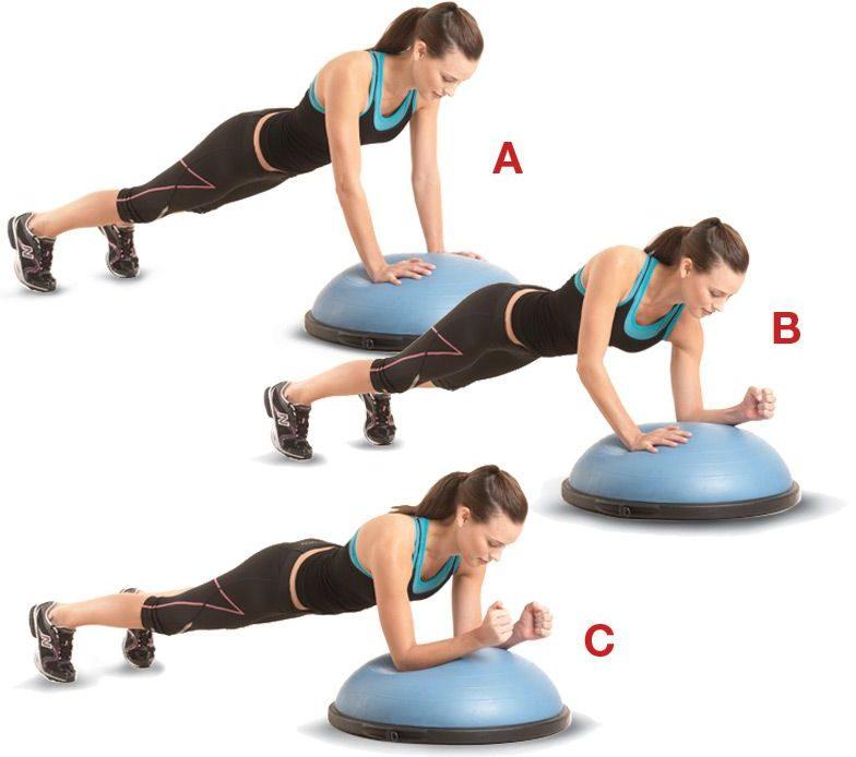 ejercicios con bosu abdominales