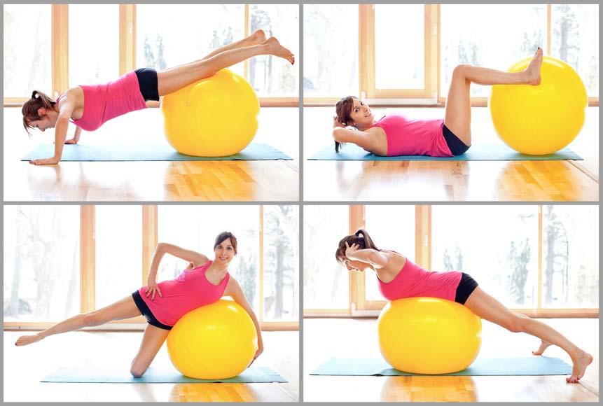 ejercicios con pelota suiza