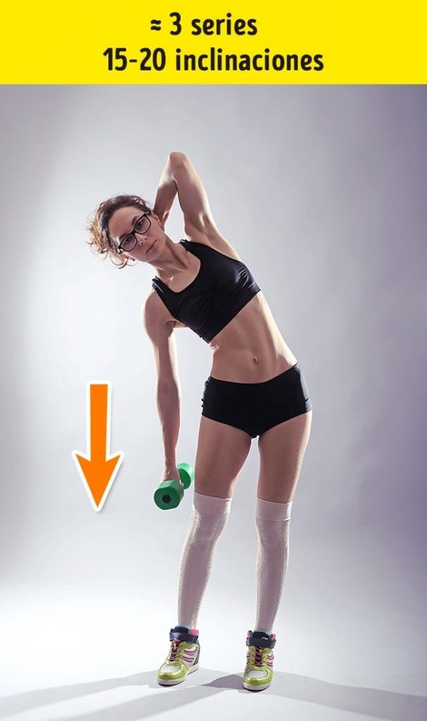 ejercicios de cintura con peso