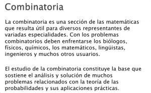ejercicios de combinatoria y permutaciones