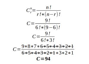 ejemplo de ejercicios de combinatoria