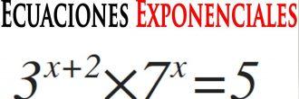 Ecuaciones exponenciales ejercicios