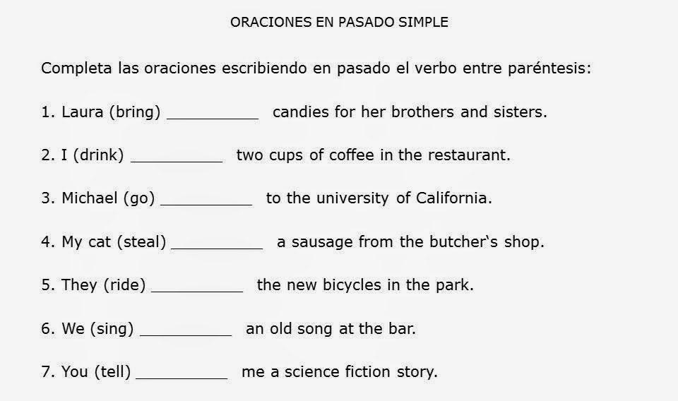 ejercicios de practica de gramatica en ingles