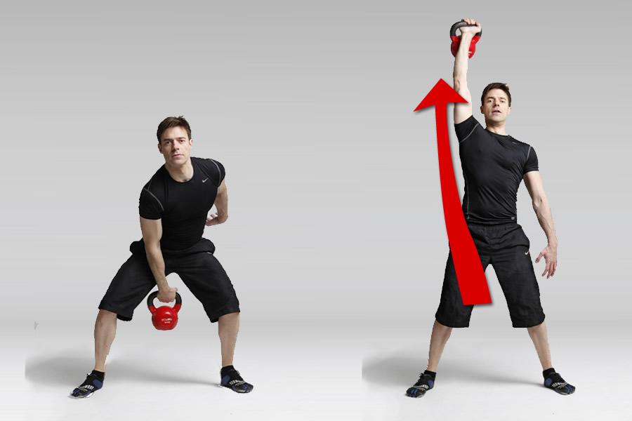 ejercicios con kettlebell para hombros