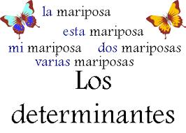 ejercicios de determinantes en castellano