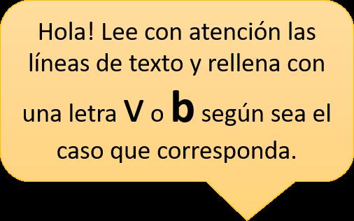 ejercicios de ortografía b v