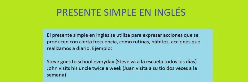 ejercicios de presente simple