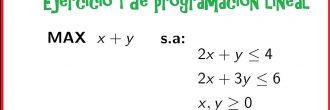 Programación lineal ejercicios