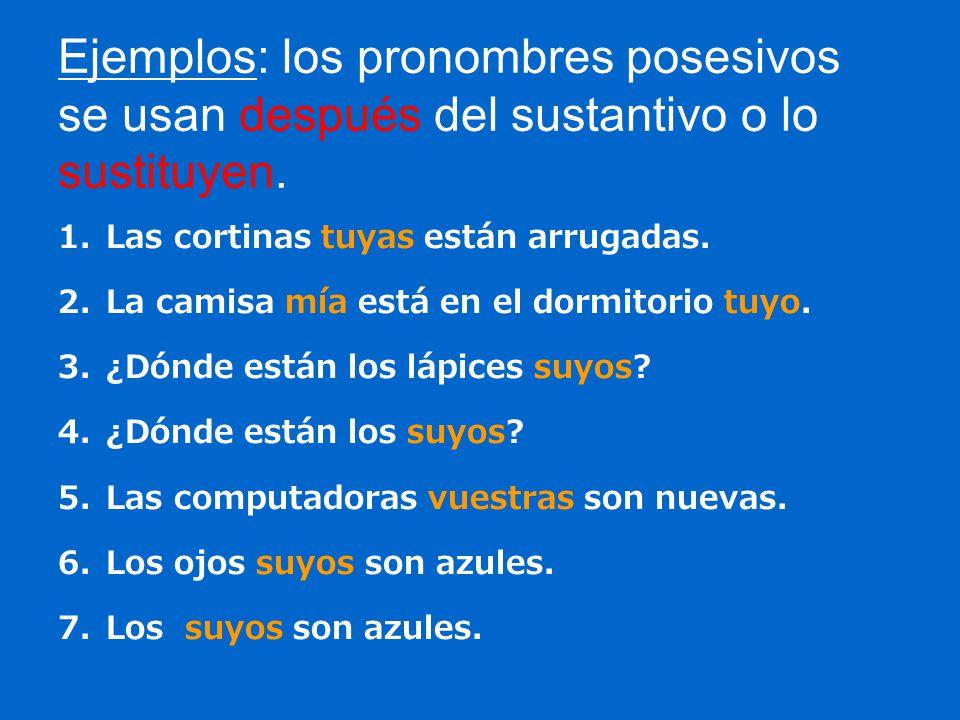 ejercicios de pronombres basicos
