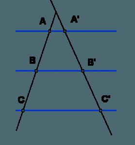Teorema de Thales ejercicios lógicos