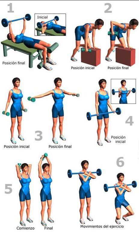 ejercicios para el tren superior del cuerpo