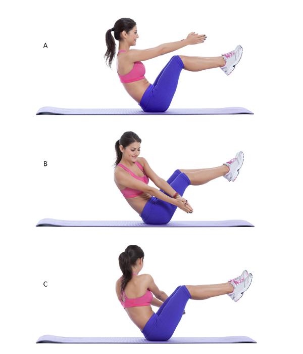 ejercicios de vientre plano mujer