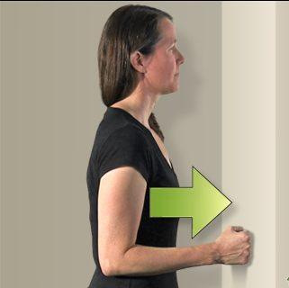 ejercicios para manguito de los rotadores pared