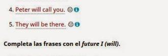 Ejercicios futuro en inglés