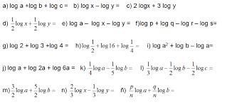 ejercicios de logaritmos para resolver