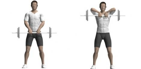 ejercicios de trapecios con pesas