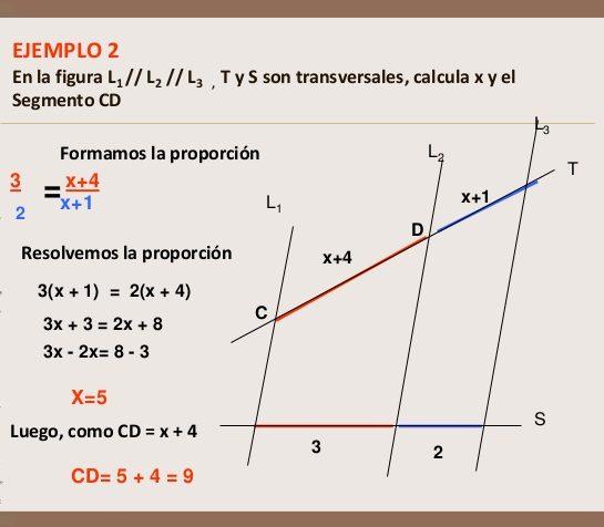 ejercicios con teorema de thales